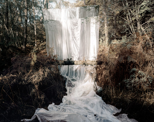 Noemie Goudal. Les Amants (Cascade), 2009. The shifting space between reality and fantasy, nature and intervention, playfulness and tragedy, is where Noemie Goudal's fantastical images live.— Elizabeth BickFor More Visit: { www.noemiegoudal.com }